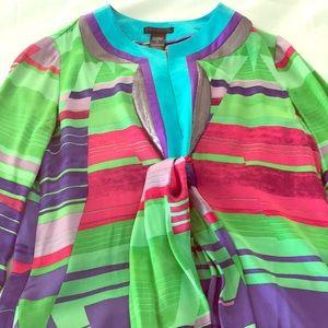 Custo Bright Silk Short Dress